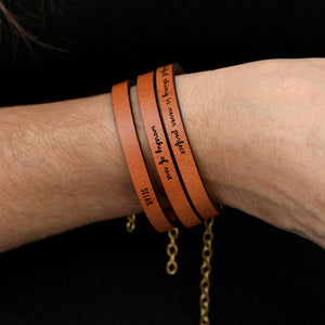 Worthy of Rest - Leather Bracelet