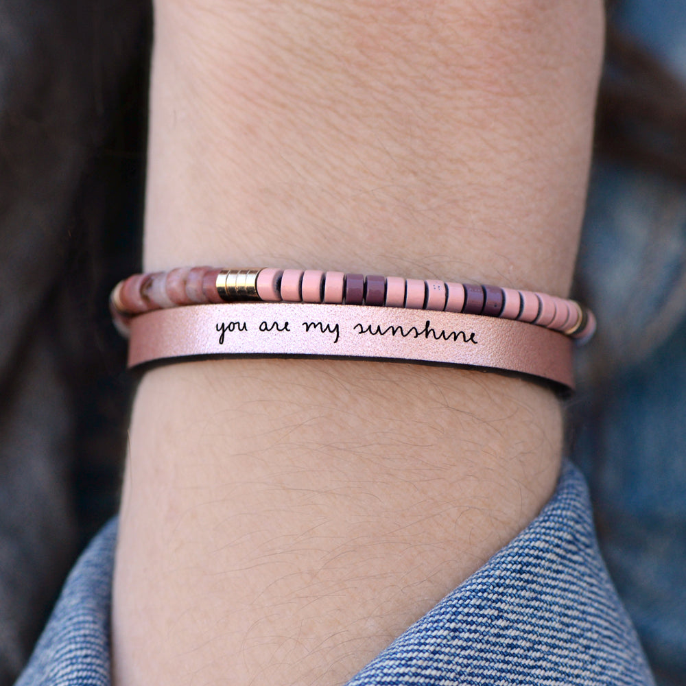 Load image into Gallery viewer, You Are My Sunshine - Leather Bracelet