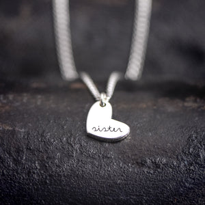 Sister Necklace - Engraved