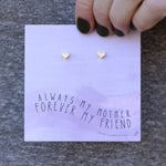 Always My Mother Quote Card Earrings