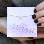 Always My Mother Quote Card Necklace