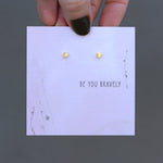 Be You Bravely Quote Card Earrings