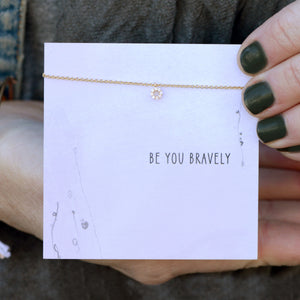 Be You Bravely Quote Card Necklace