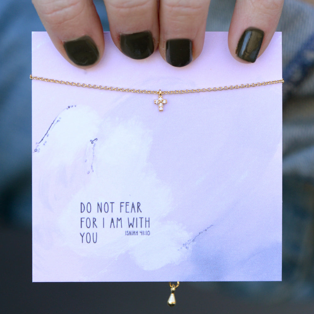 Do Not Fear Quote Card Necklace