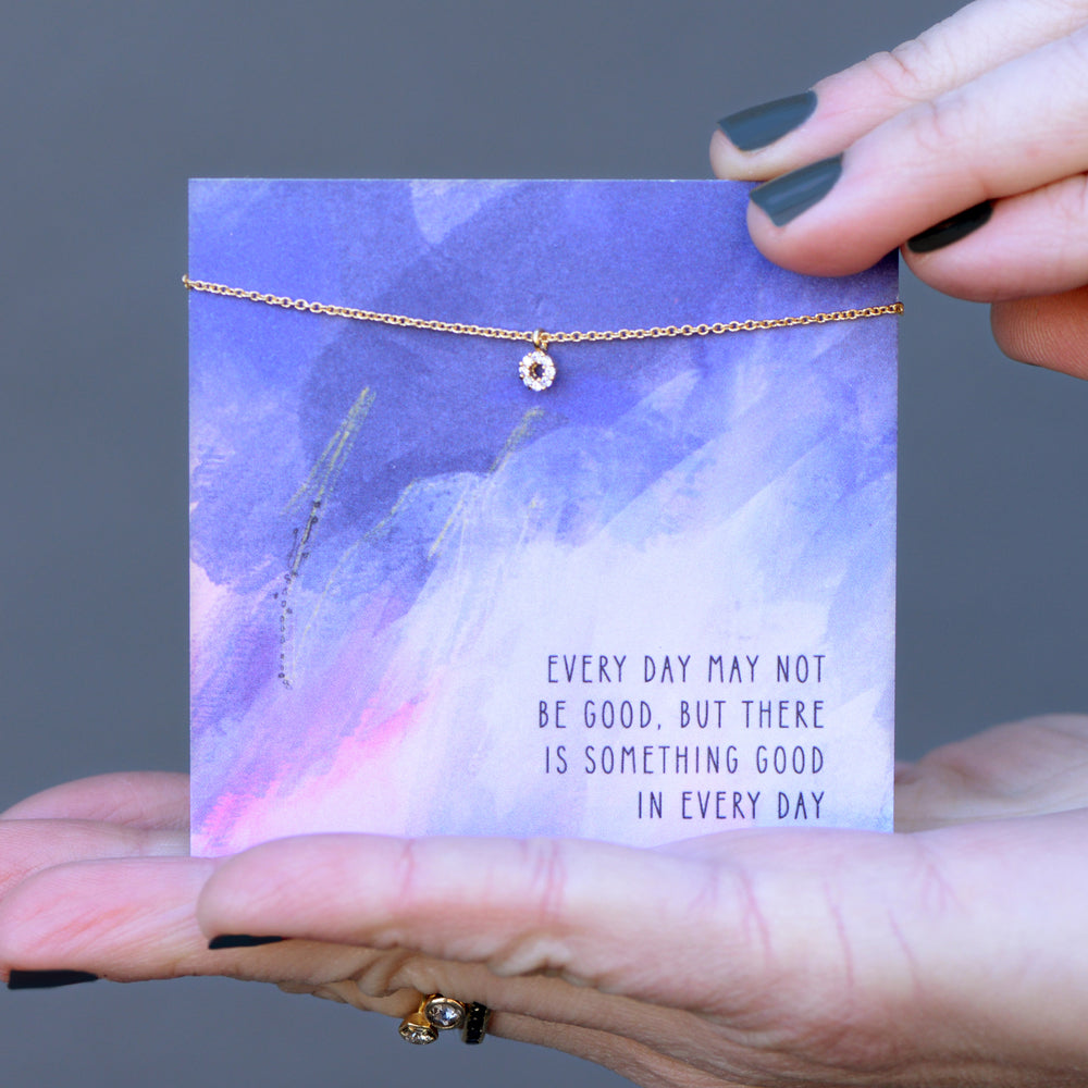 Every Day Quote Card Necklace