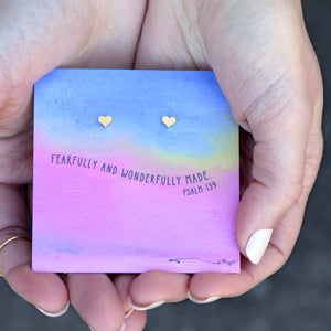 Fearfully and Wonderfully Made Quote Card Earrings