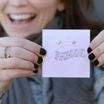 Good Friends Quote Card Earrings