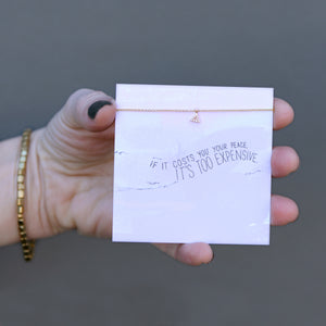 If It Costs You Quote Card Necklace