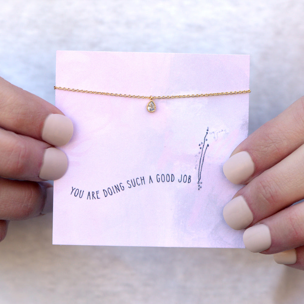 You Are Doing Such a Good Job Quote Card Necklace