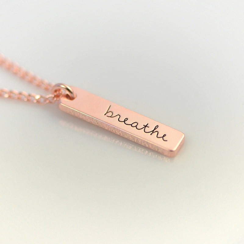 Breathe Necklace - Engraved