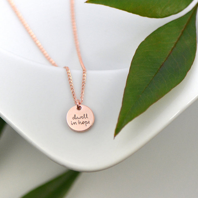 Dwell In Hope Necklace - Engraved