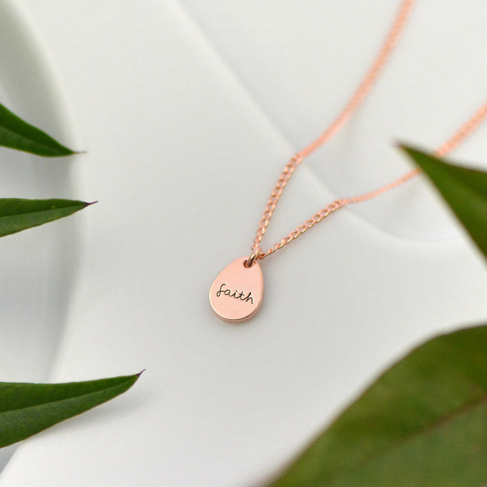 Faith Necklace - Engraved
