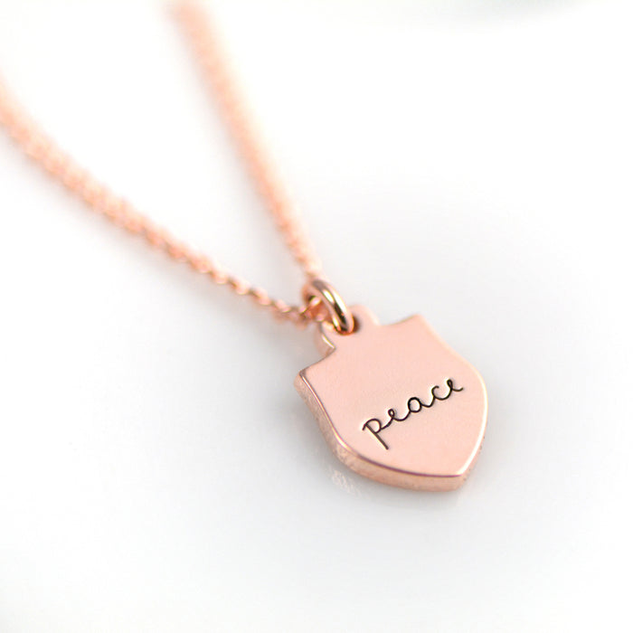 Peace Necklace - Engraved