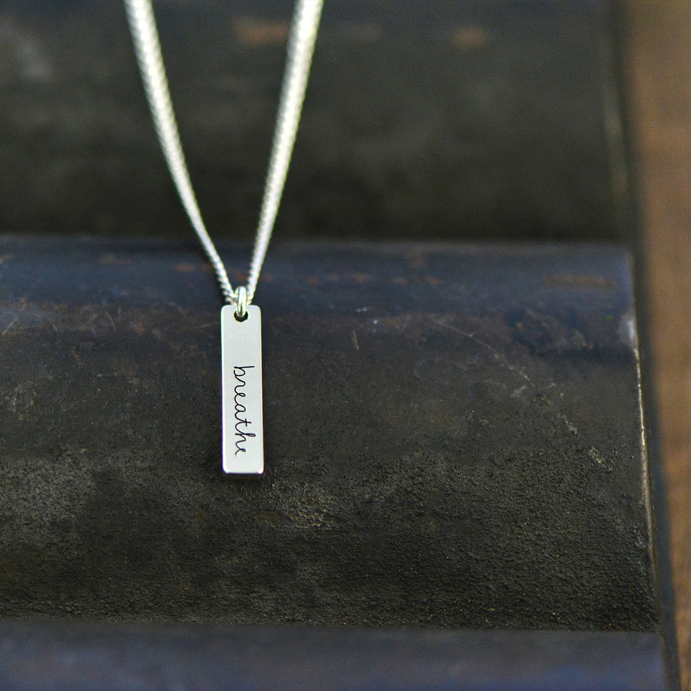 Load image into Gallery viewer, Breathe Necklace - Engraved