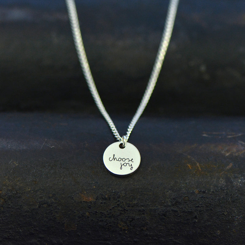 Choose Joy Necklace - Engraved