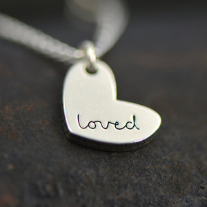Engraved Loved Necklace from Laurel Denise - Gifts for Mom
