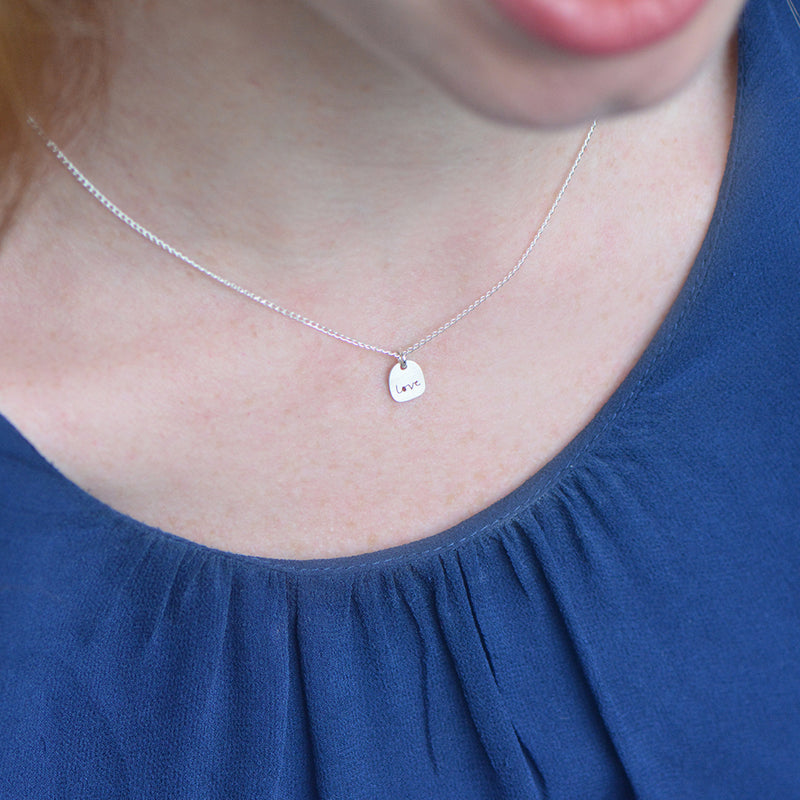 Love Necklace - circle peek-a-boo