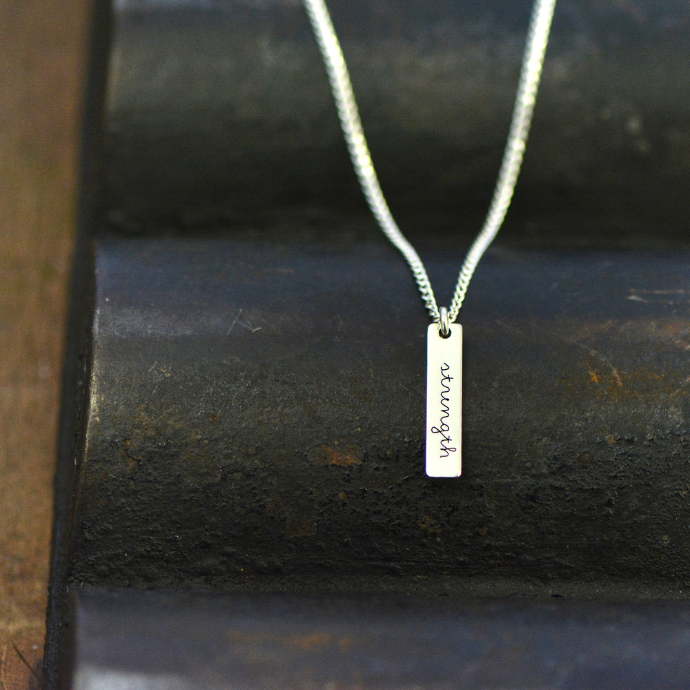 Strength Necklace - Engraved