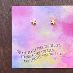 You Are Braver Quote Card Earrings