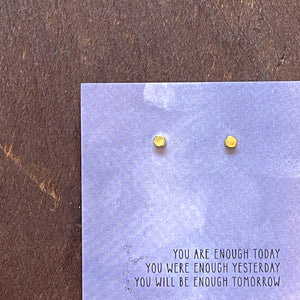 Load image into Gallery viewer, You Are Enough Quote Card Earrings