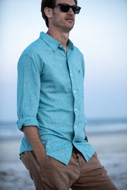 Men's Après Sail Linen Shirt | Various Colors-Tops-Bitter End Provisions