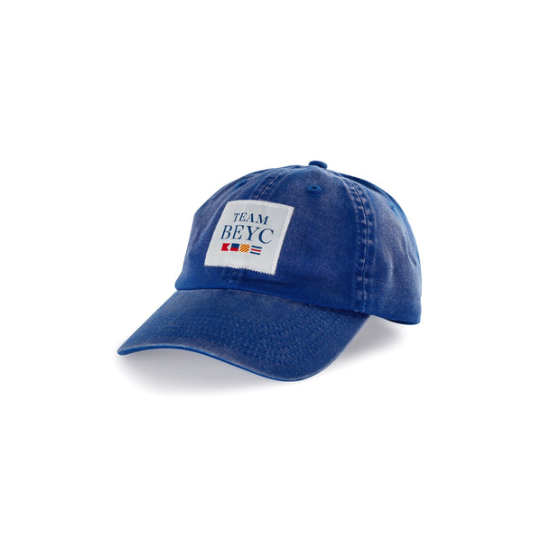 team beyc hat from a sail racing gear brand