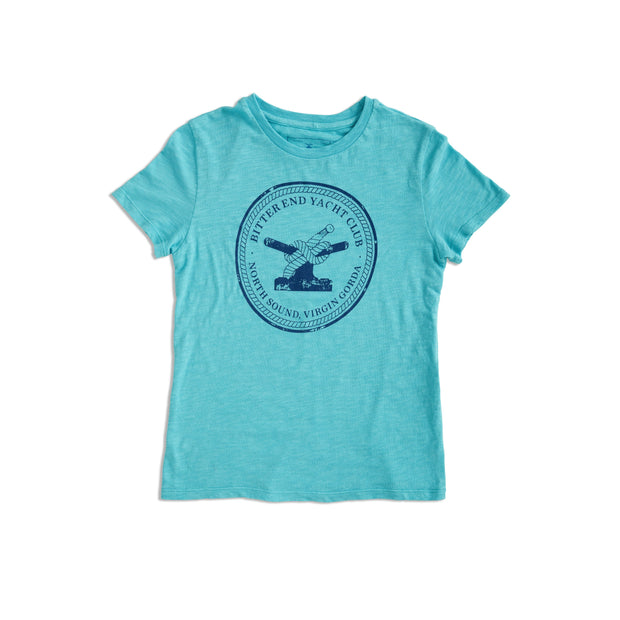 Kid's Bitter End Classic Tee | Teal-Tops-Bitter End Provisions