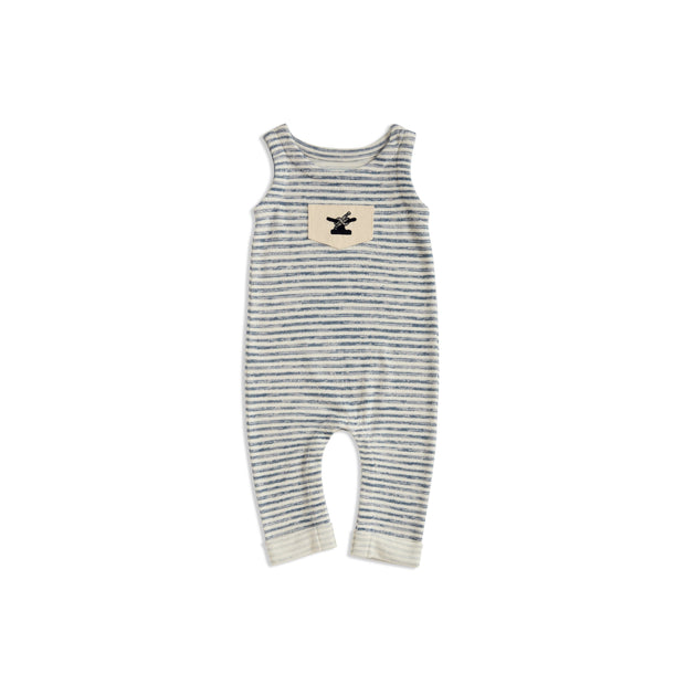 Infant One Love Onesie | Indigo Striped