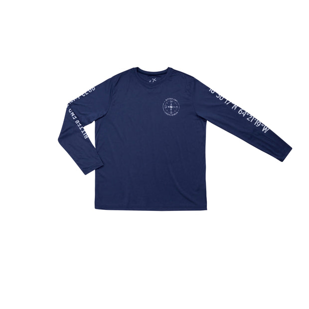 Men's Compass Dri-Tek | Patriot Blue-Tops-Bitter End Provisions