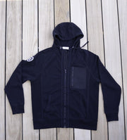 Men's Vintage Patch Hoodie | Navy-Tops-Bitter End Provisions