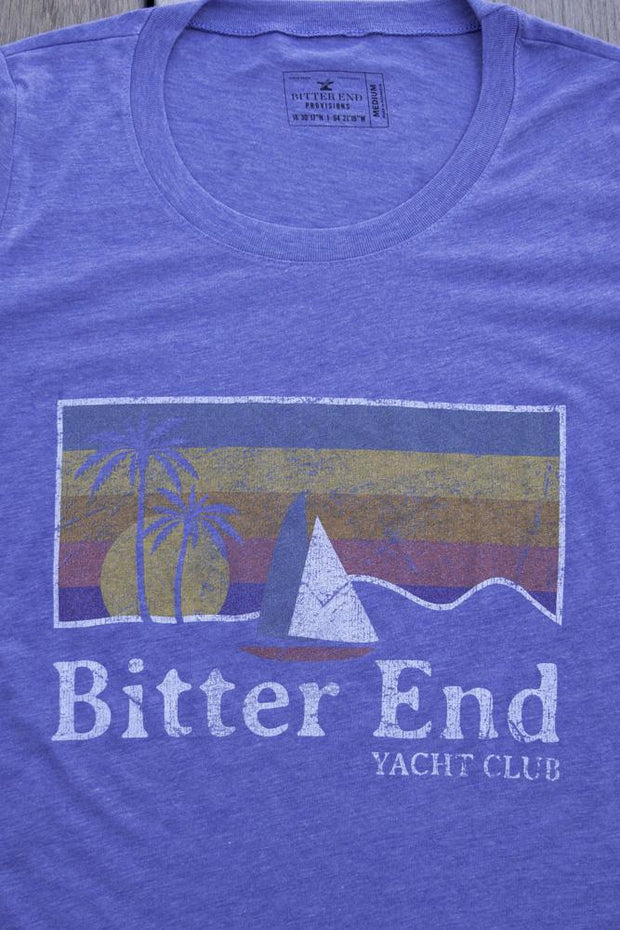 North Sound Sunset Tee | Iris-Tops-Bitter End Provisions