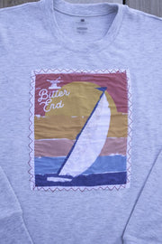 Sunset Sail Patch Crewneck-Tops-Bitter End Provisions