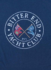 Men's Cross Flags Classic Tee | Navy-Tops-Bitter End Provisions