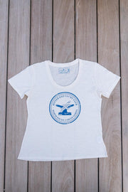 Women's Bitter End Classic Tee | Warm White-Tops-Bitter End Provisions