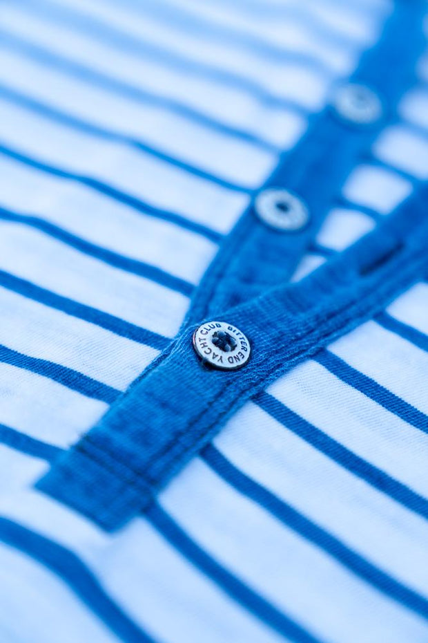Women's Jibe Ho Jersey | Indigo Stripes-Tops-Bitter End Provisions