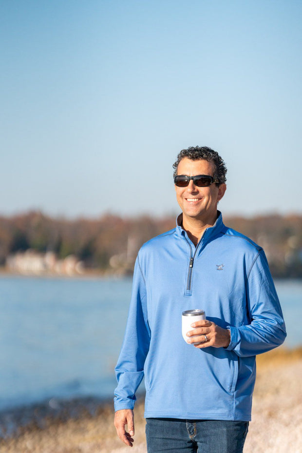 Men's Mid Layer Quick Dry 1/4 Zip-Tops-Bitter End Provisions