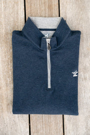 Men's Mid-Layer Cotton Quarter Zip-Tops-Bitter End Provisions