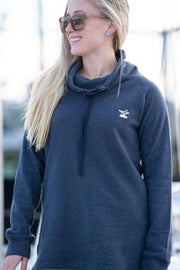Women's Funnel Neck Pullover-Tops-Bitter End Provisions