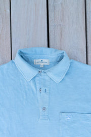 Men's Prince of Wales Polo | Sky-Tops-Bitter End Provisions