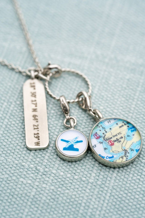 Coordinates Charm Necklace-Accessories-Bitter End Provisions