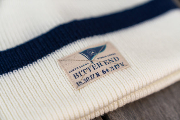 Ivory Knit Burgee Beanie (Unisex)-Accessories-Bitter End Provisions