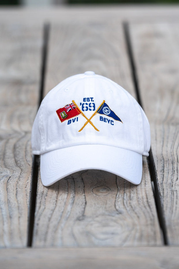 BVI & Bitter End Cross Flags Cap | X-Large Size-Accessories-Bitter End Provisions