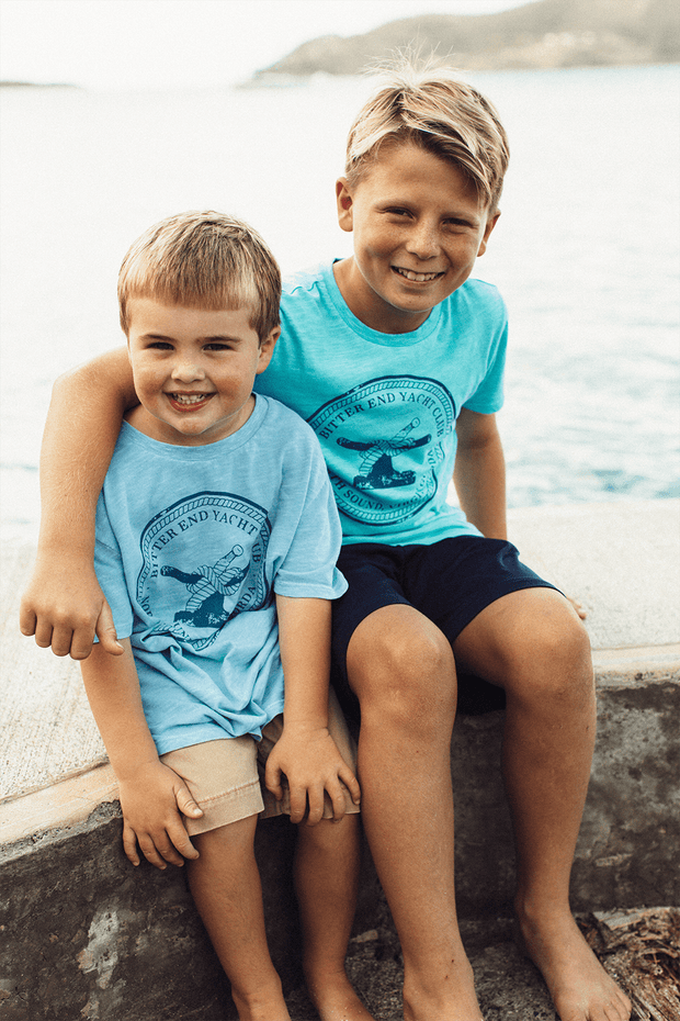 Kid's Bitter End Classic Tee | Teal - Bitter End Provisions