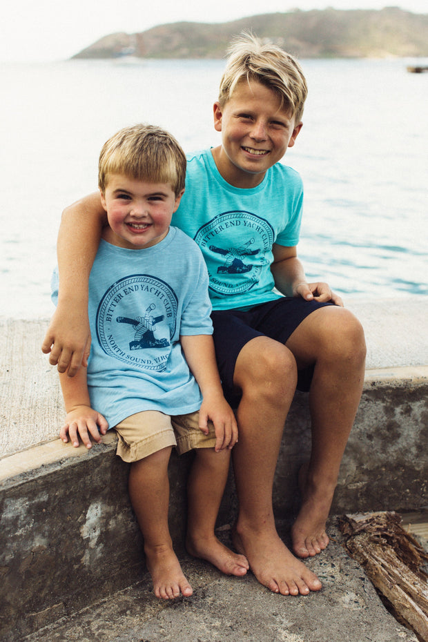 Kid's Bitter End Classic Tee | Sky Blue - Bitter End Provisions