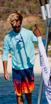 Men's Sail.Kite.SUP. Dri-Tek | Aruba Blue - Bitter End Provisions