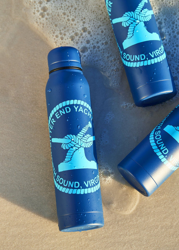 whaler water bottle from a yacht clothing company
