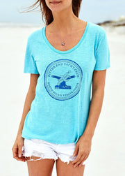 Women's Bitter End Classic Tee | Teal-Tops-Bitter End Provisions