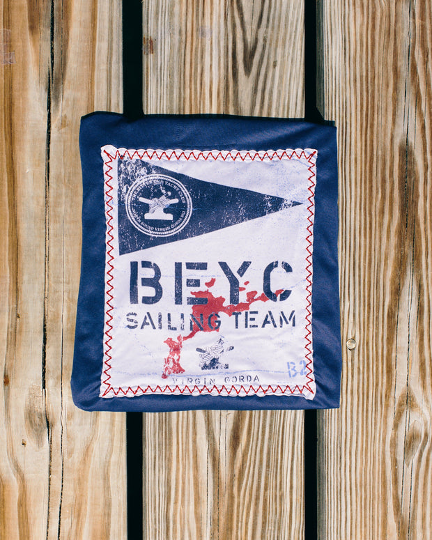 Men's Sailing Team Dri-Tek | Patriot Blue-Tops-Bitter End Provisions