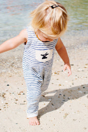 Infant One Love Onesie | Indigo Striped - Bitter End Provisions