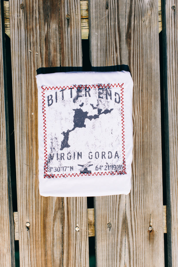 NEW! Women's Virgin Gorda Map Dri-Tek | White-Tops-Bitter End Provisions